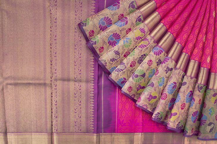 Tharakaram Handwoven Kanjivaram Silk Sari 1023971 - Sari / Silk Saris - Parisera