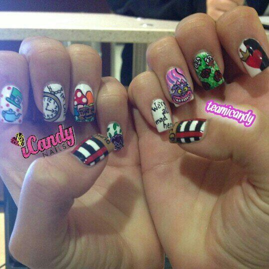 279 best nails images on pinterest nail art hair and hair makeup those are some wicked nails prinsesfo Image collections