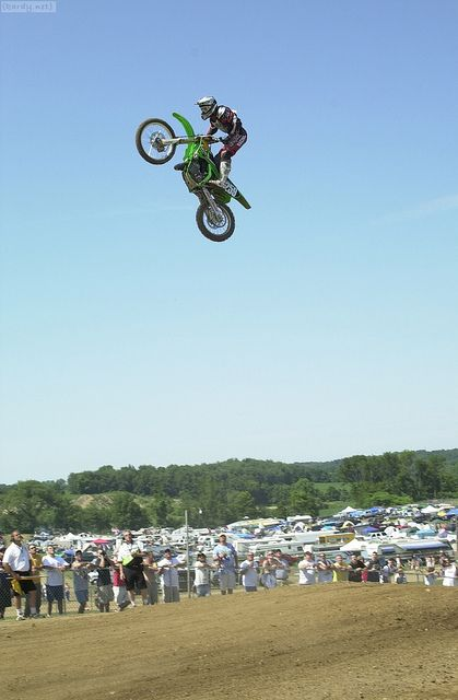 James Stewart airing out LaRocco's Leap on his 2002 Factory Kawasaki SR125 by Tony Blazier, via Flickr