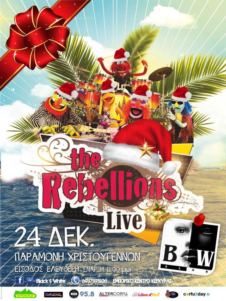 Κυριακή 24 Δεκεμβρίου, παραμονή Χριστουγέννων, το Β&W club στο εμπορικό παρουσιάζει τους Rebellions. Διαβάστε περισσότερα...