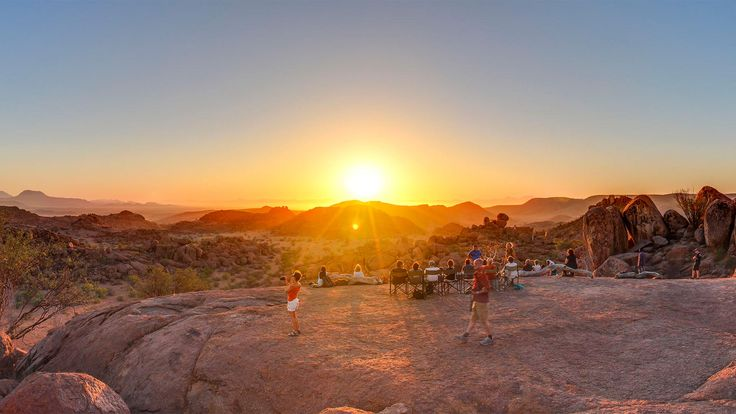 Mowani Mountain Camp -- Taking in the Sunset -- Damaraland   - Explore the World with Travel Nerd Nici, one Country at a Time. http://travelnerdnici.com