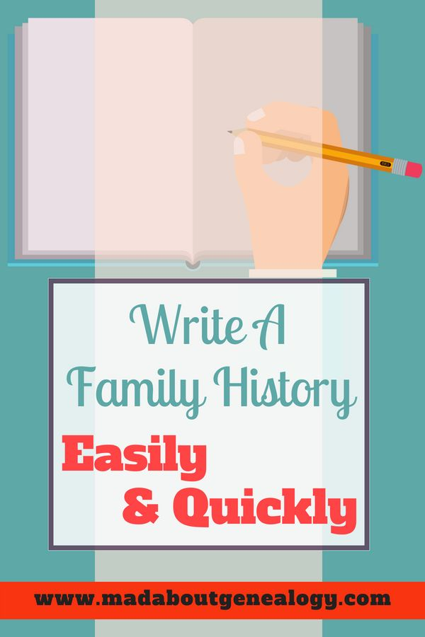 Writing a Family History Quickly  Easily - Write A 4 Generation