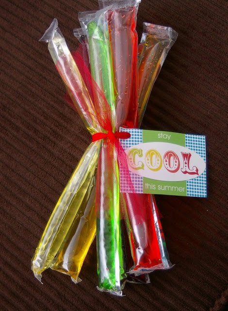 """""""Stay Cool This Summer"""" End of the year class treat idea"""