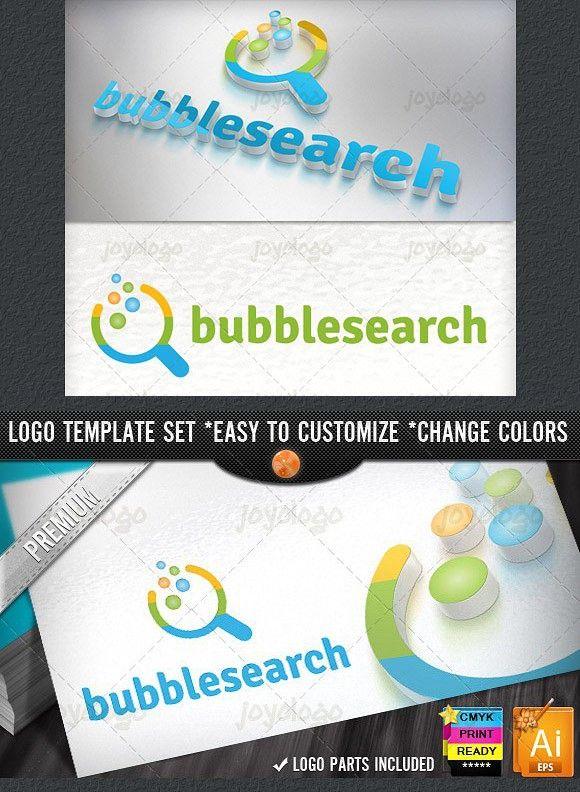 app pixel circles bubble search logo branding graphic design