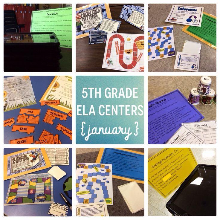 The Brown-Bag Teacher (GREAT TEACHER BLOG!): January's ELA Centers for 5th grade
