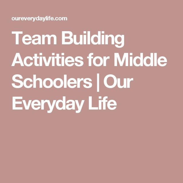 Team Building Games Middle Schoolers