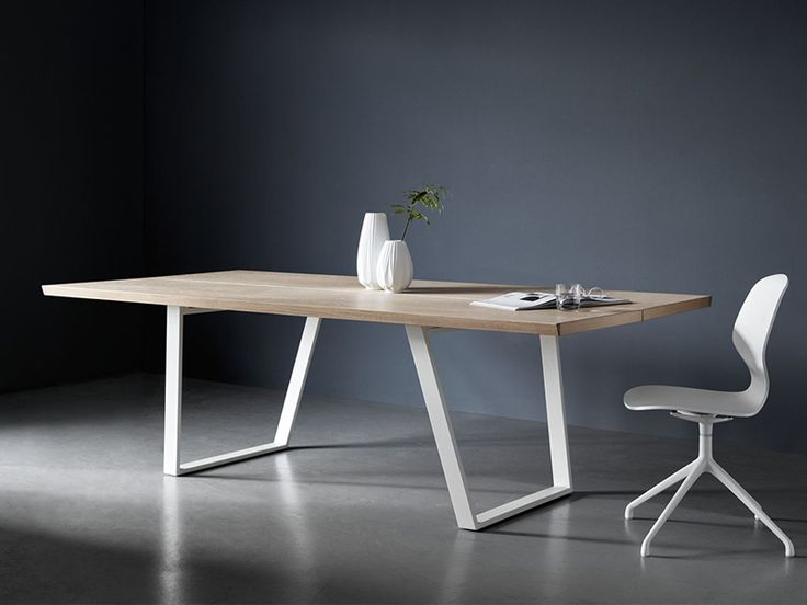 Vancouver designer dining table - white