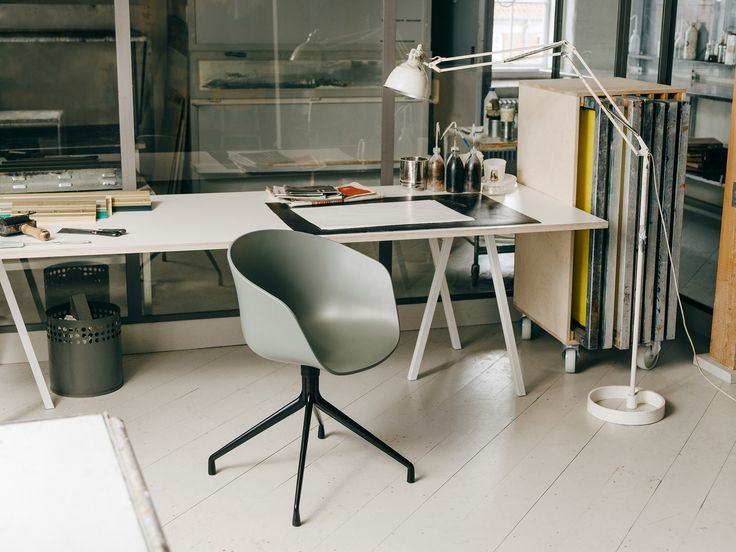 About A Chair and Loop Stand table.