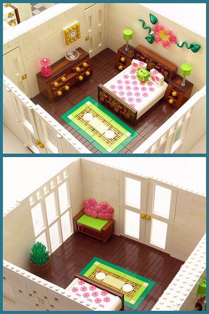 I love to build detailed rooms while my kids play w/ their legos, this is inspiration for me; and my daughter would love this also!