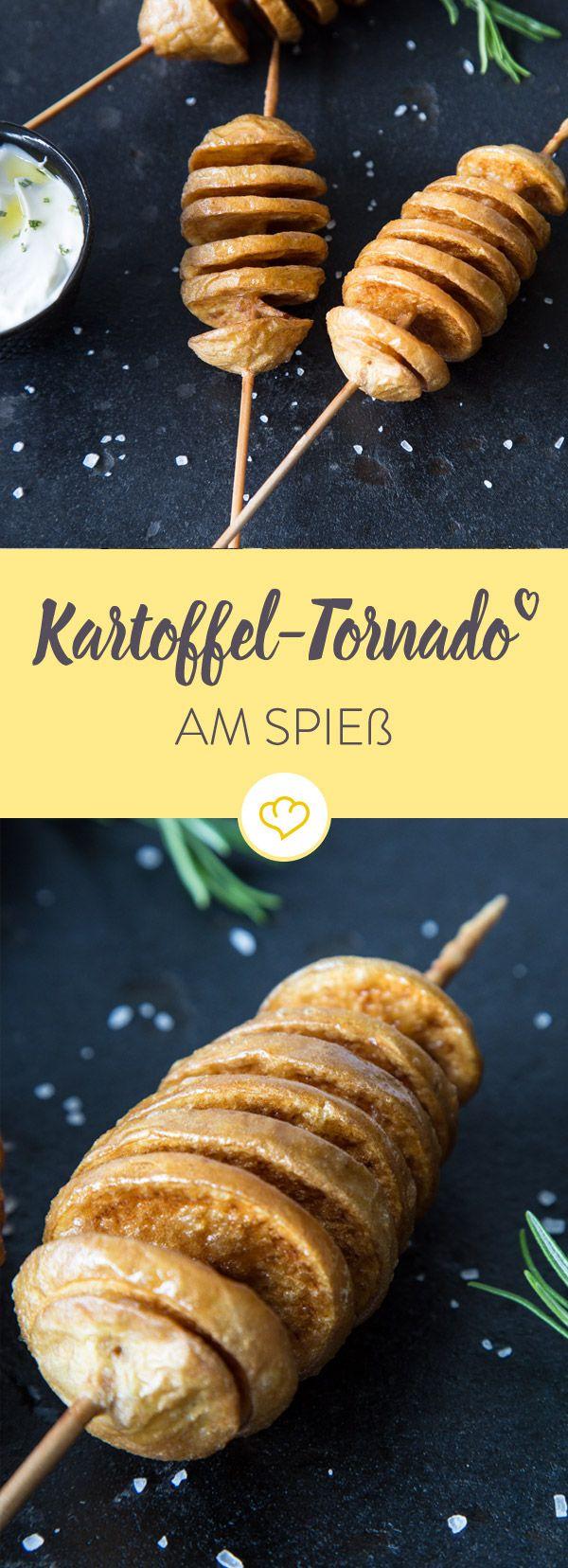 Mit diesen Spießen werden nicht nur die Kartoffeln zu Tornados, sondern auch alle Personen um die herum. Perfekt als Beilage oder Snack für Zwischendurch.