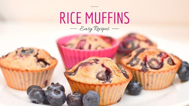 Fit Veronika: Recept: Borůvkové muffiny z rýžové mouky (zn. bez cukru)