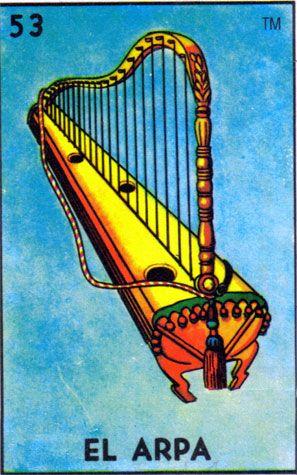 loteria, mexican, music, el arpa