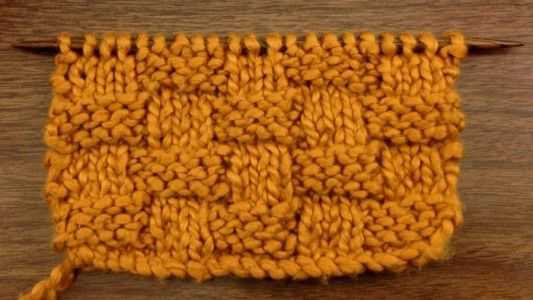 Basket Weaving Example Of Which Industry : Example of the basket weave stitch rs points de tricot