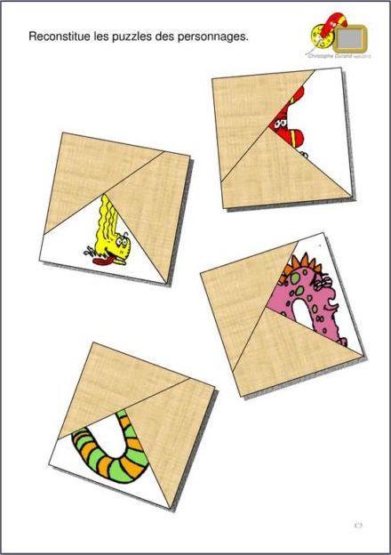 Reconstitue le puzzle du personnage