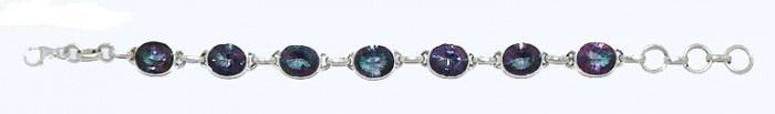 $73  Italian Mystic Topaz Stone Bracelet In 925 Sterling Silver, info@bijuterie-online.ro