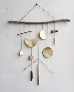 Brass geometric wall hanging geometric / ELECTRICSUNCREATIVES