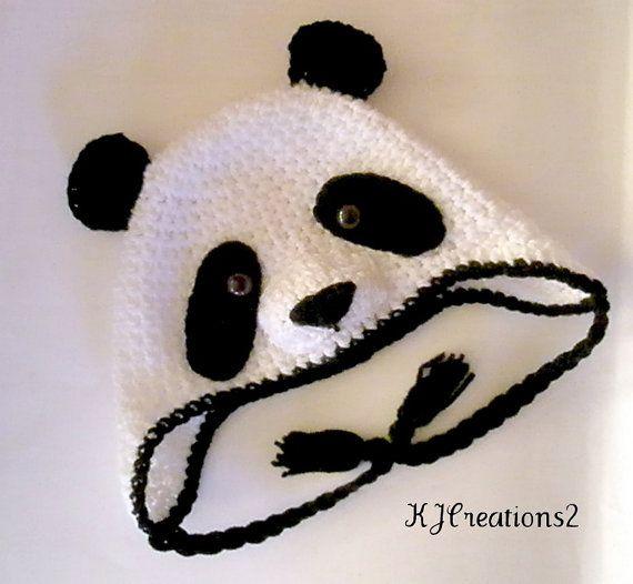 Panda Bear hat by kjcreations2