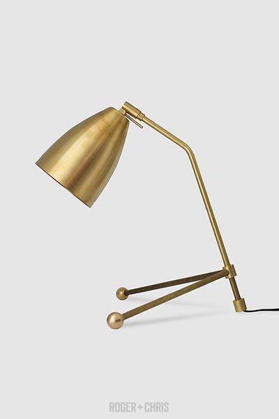 http://www.home2kitchen.com/category/Desk-Lamp/ Rex Brass Desk Lamp ° Roger + Chris