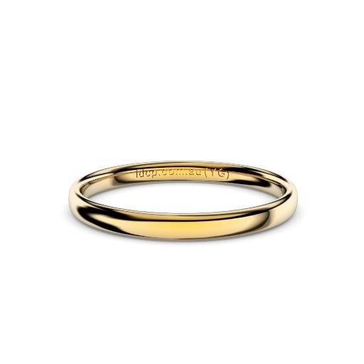 Women's Classic Yellow Gold Wedding Ring – 2mm