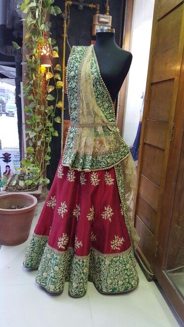 Bridal chaniya choli at Manish reshamwala fashion studio surat.
