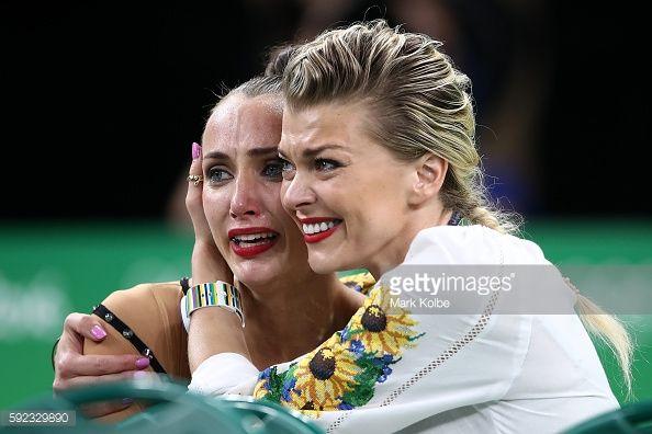 Foto di attualità : Bronze medalist, Ganna Rizatdinova of Ukraine...