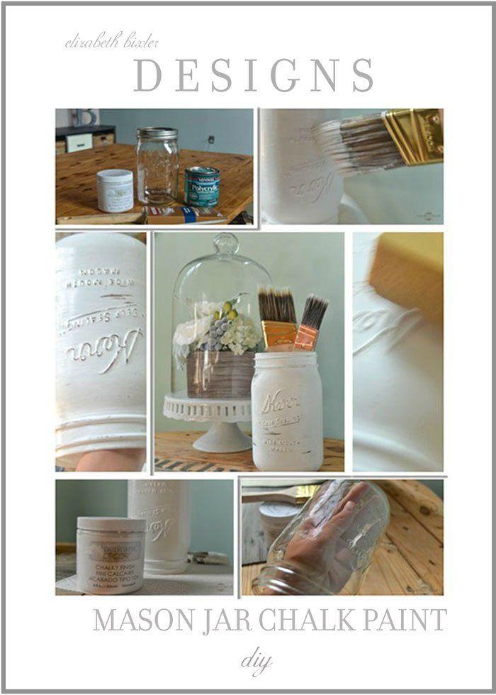 die besten 25 chalk paint mason jars ideen auf pinterest einweckgl ser anmalen bemalte. Black Bedroom Furniture Sets. Home Design Ideas