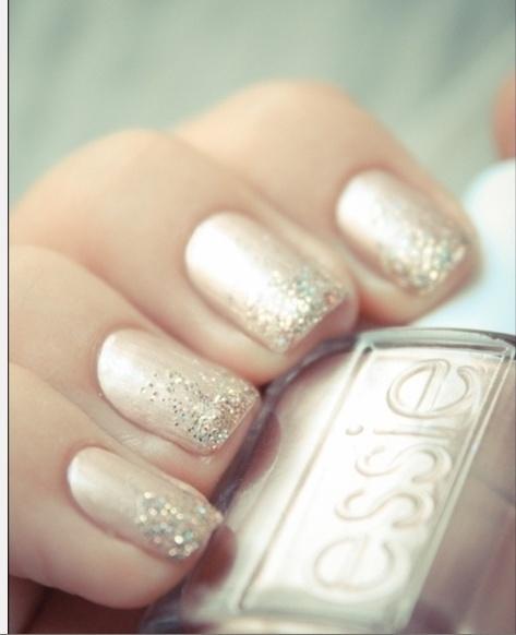 sparkly bride nails - bachelorette party?