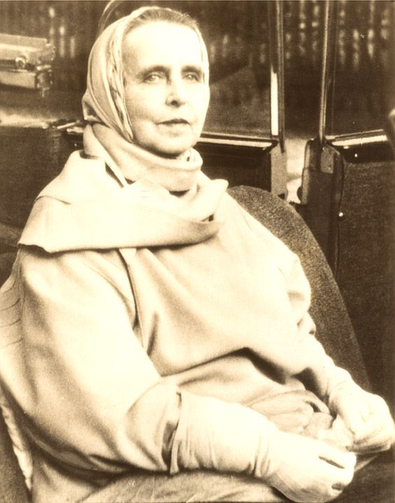 Queen Marie of Rumania Leaving Nursing Home Press Photo shortly before her death