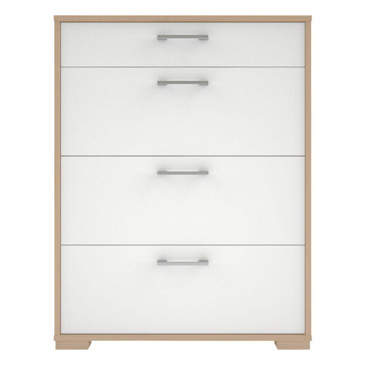Evie White & Matt & High Gloss Drawer (H)910mm (W)702mm (D)395mm | Departments | DIY at B&Q
