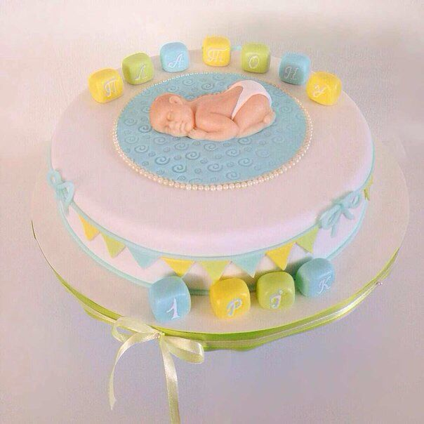 Сладкий, милый тортик для самого нежного возраста и для первой значительной даты в жизни