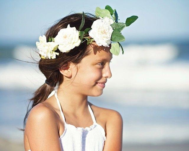 DIY Floral Wreath | Beach Wedding | Flower Girl