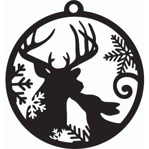 Silhouette Design Store - View Design #71288: kissing deer tag