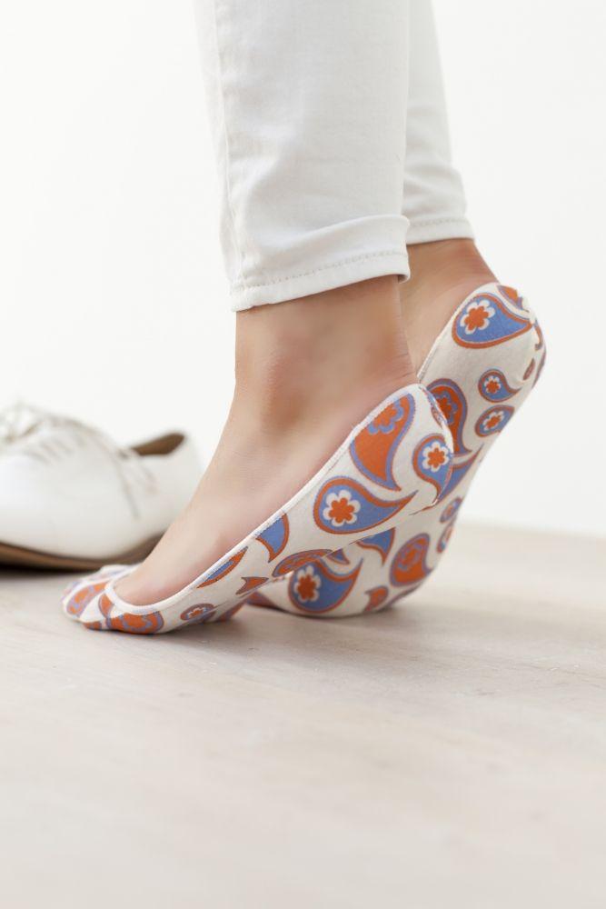 Ladies 2 Pair Elle Patterned and Plain Printed Shoe Liners £6.99