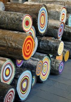Estos troncos...¡son irresistibles!