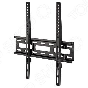 Hama H-108770  — 663 руб. —  Кронштейн для телевизора Hama H-108770 это надежное приспособление для крепления LCD LED-телевизоров в удобном для просмотра месте. Он подходит для всех ЖК-телевизоров с диагональю экрана 23 -56 . Благодаря крепкой конструкции на этом кронштейне телевизор можно расположить максимально близко к стене. Преимущества кронштейна:  Плоский профиль позволяет вписаться в современный дизайн интерьеров;  Обеспечивает оптимальное позиционирование телевизора  Особенно…