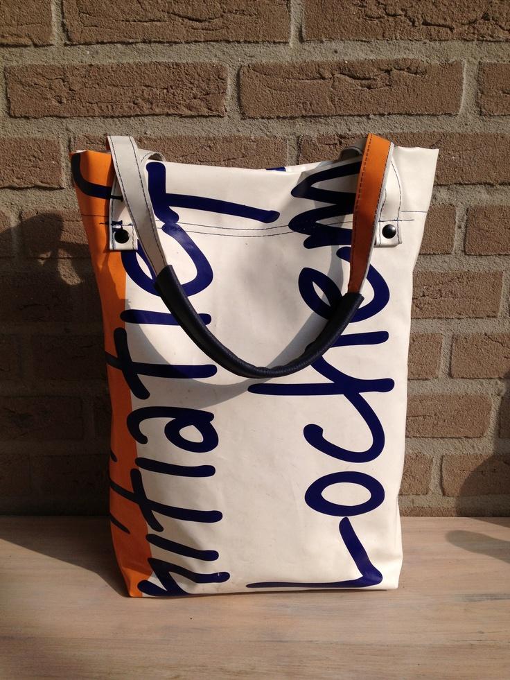 bag, made of used flag