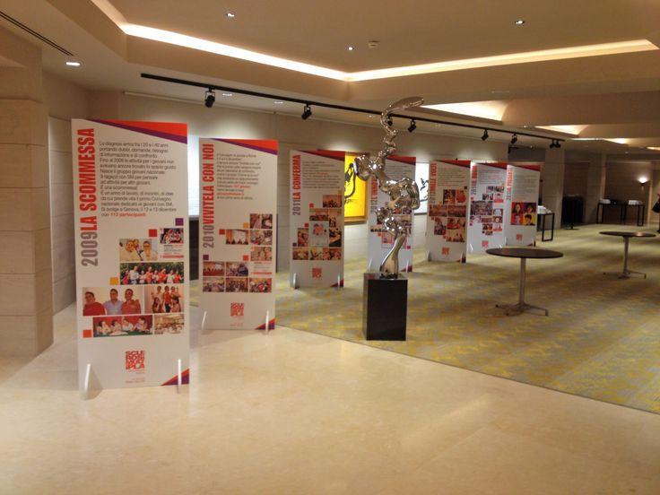 AISM Convegno Giovani, Roma, personalizzazione spazi espositivi