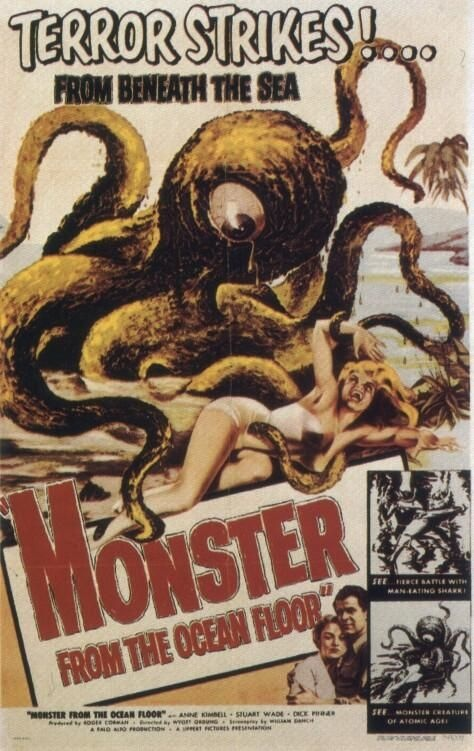 Carteles de películas antiguas: Movie Posters, Comic Books, The Ocean, Sea Monsters, Sci Fi, Ocean Floors, Monsters Movie, Horror Movie, B Movie