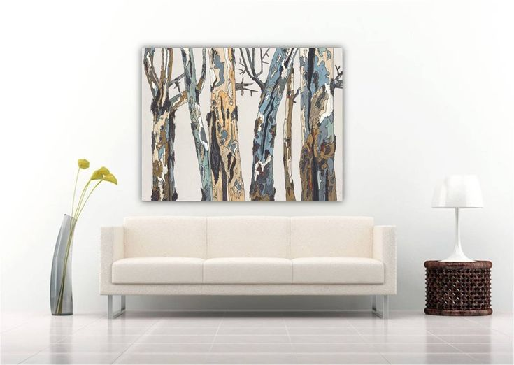 Extra Large Landscape Artwork Wall Art White Masculine Canvas Oversized Modern