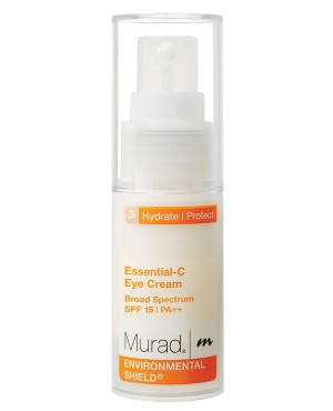 Transition to Spring: Protect your eyes. The skin around your eyes is extremely delicate, thin and prone to wrinkles, so take the extra measures to protect them! Wear sunglasses to keep you from squinting and use an eye cream with SPF on top of your moisturizer with SPF.     Our Essential-C Eye Cream Broad Spectrum SPF 15 | PA++ not only protects against sun damage, but also works to reduce the appearance of lines and dark circles.