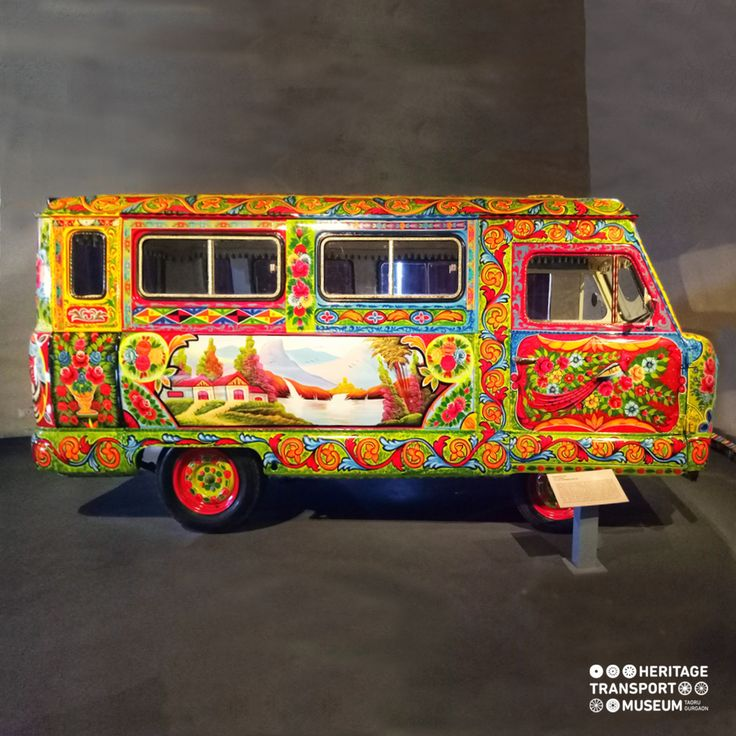 The colourful Standard van was an ambulance, which is now adorned with bright colours & decorative patterns often found on the Trucks, especially from Pakistan!  #vintagetransport #vintagecollection #classiccollection #vintagevehicle #incredibleindia #doyouknow #museum