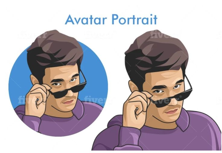 I will draw an avatar cartoon portrait in 24 hours in 2020