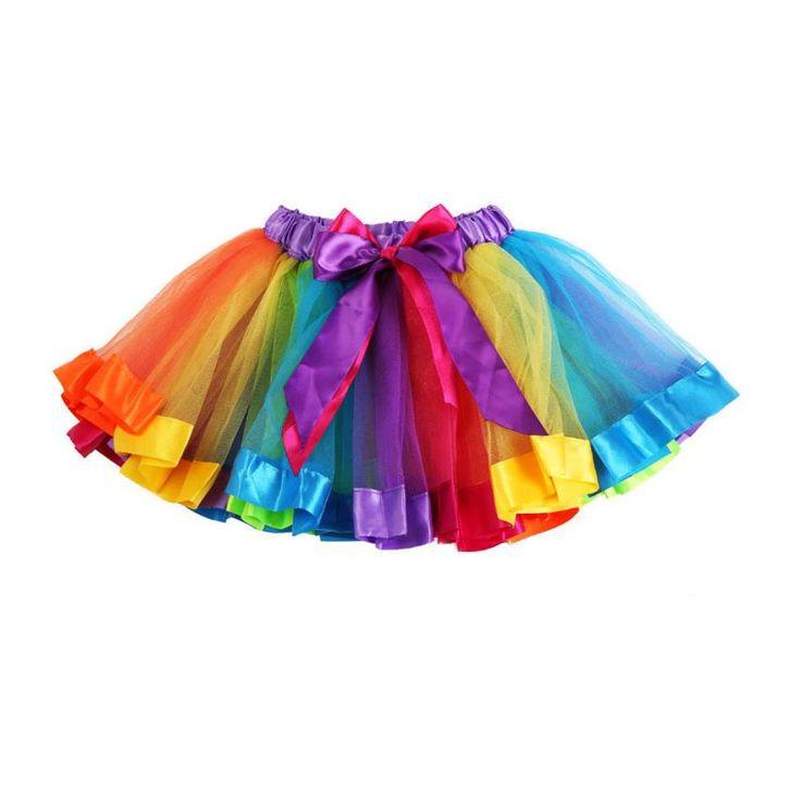 Девушки юбки 2016 радуга саммерс девушки короткая юбка летний стиль мини-юбки танцевальные костюмы для детей юп fille хорошее