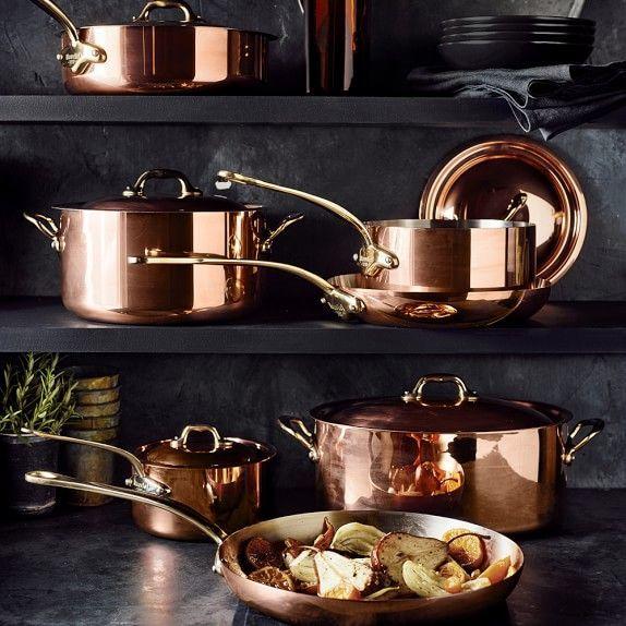 Mauviel Copper 12 Piece Cookware Set Copper Kitchen Accessories Copper Kitchen Gold Kitchen