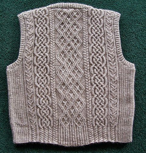 Ravelry: Project Gallery for Refined Aran Vest pattern by Charlotte Morris