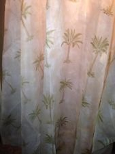 Palm+tree+seer+curtais | ... Tahiti Palm Trees Sheer Window