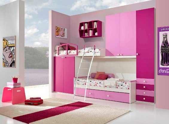 Collection of Amazing PINK Rooms � 17 Interiors  love the layout...but not the  colors