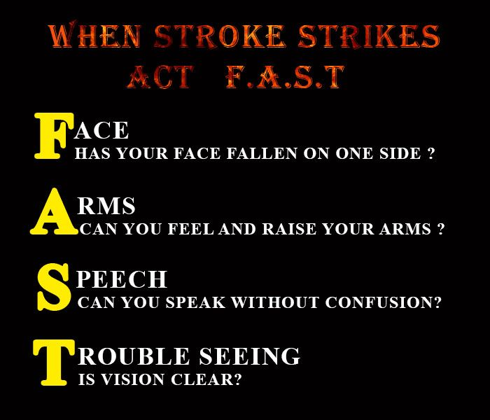 #Stroke #Warning #Signs  i) Sudden Numbness and Weakness of the face, arm or leg, especially on one side of the body.  ii) Sudden Confusion, trouble speaking or understanding  iii) Sudden trouble seeing in one or both eye  iv) Sudden Trouble walking,dizziness,loss of balance or coordination  v) Sudden severe headache with no known cause  Stay #Connected with Us  #Visit : http://www.homital.in/  #Tweet : https://twitter.com/HOMITAL_Medcare