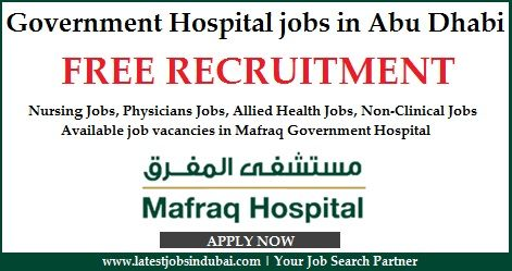 Government Hospital jobs in Abu Dhabi