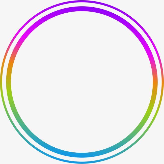 Hand Painted Colorful Circle Ring Circle Clipart Circle Drawing
